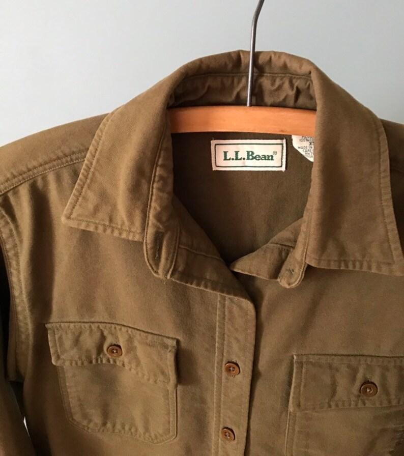 MOSS work shirt industrial cotton shirt 1980s L.L.Bean utility shirt