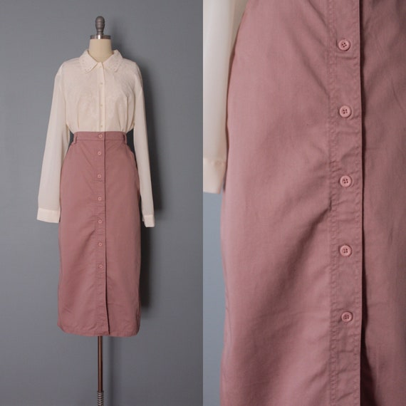 DUSTY rose denim skirt | Woolrich denim skirt | ne