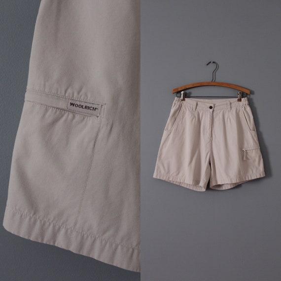 GRAY nude shorts   Woolrich cotton shorts   zipper