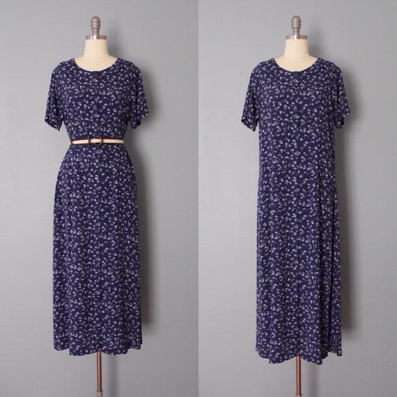 BOTANICAL maxi dress | indigo blue maxi dress | bu