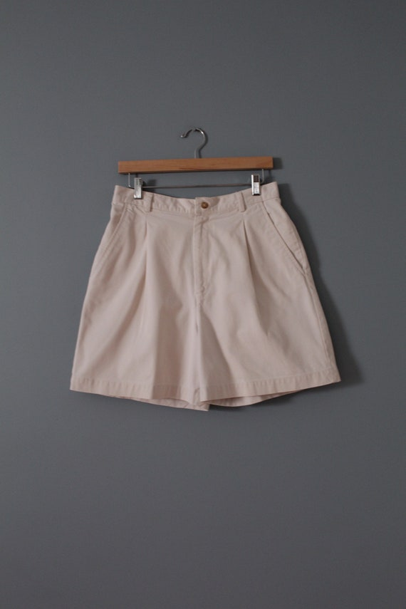 ANTIQUE white shorts | cotton tap shorts | high w… - image 5