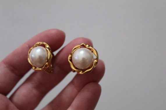 PEARL filigree Napier earrings