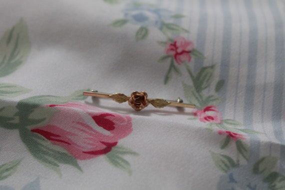 ROSE bar pin brooch   blouse pin brooch   Victori… - image 4