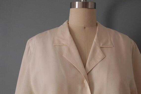 VANILLA silk blouse | silk collared chemise | sho… - image 7