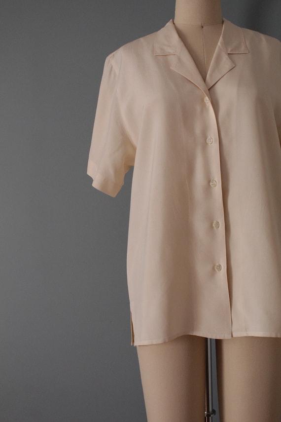 VANILLA silk blouse | silk collared chemise | sho… - image 8
