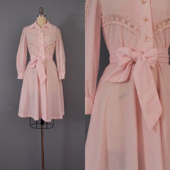 BLUSH pink belted dress