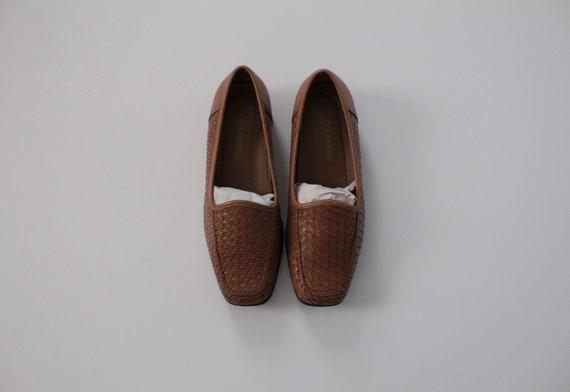 WALNUT woven slip ons   braided leather slip ons  