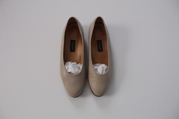 ECRU leather flats   minimalist slip ons   ecru nu