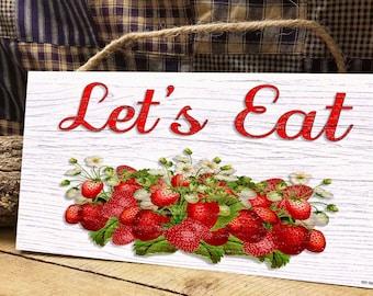Strawberry Kitchen Etsy