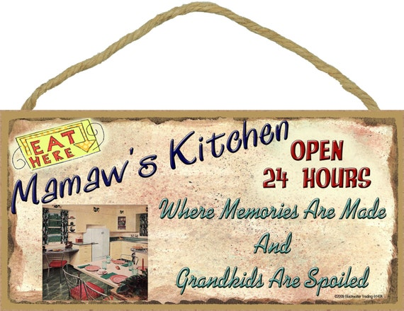 Mamaw S Kitchen Where Memories Are Made And Grandkids Are Etsy