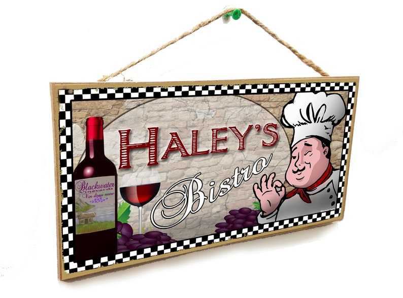 """Personalized /""""YOUR NAME/'S/"""" Kitchen Country Style Apples 5x10 SIGN"""