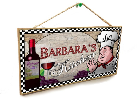 Barbara S Wine Kitchen Italian Fat Chef Style 5 X Etsy