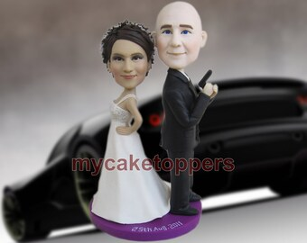 ploice wedding  cake toppers, for wedding, police cake toppers, handmake