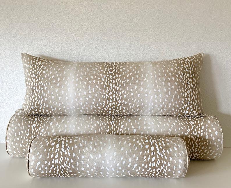 Fawn Antelope Deer 100 Cotton Lumbar Pillow Covers Throw Etsy