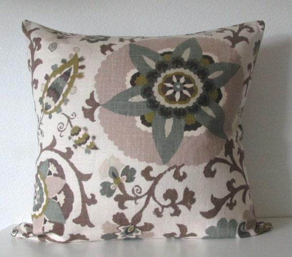 Silsila Rhinestone Suzani Brown Gray Taupe Decorative Pillow Etsy Mesmerizing Rhinestone Decorative Pillows