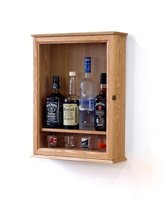 Locking Liquor Cabinet Wall Mounted Etsy