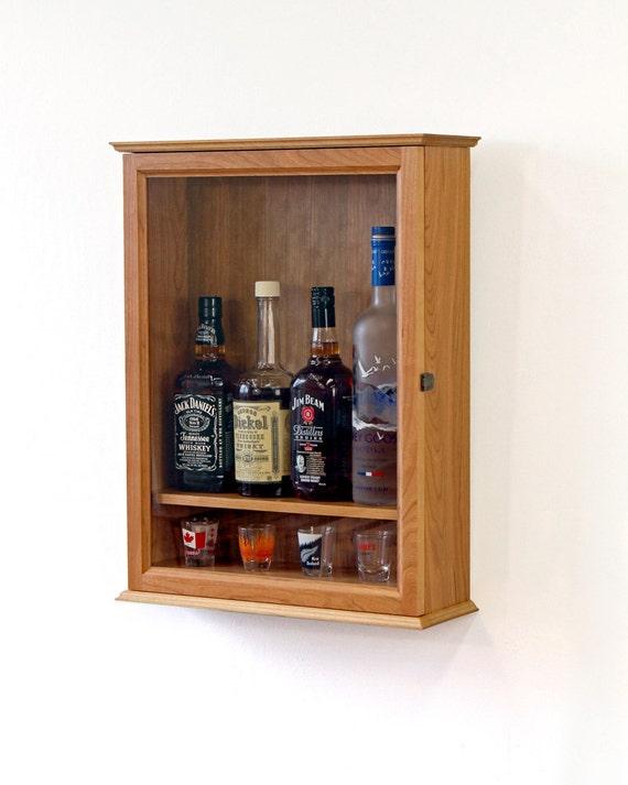 Wall Mounted Liquor Cabinet, Liquor Cabinet Lockable