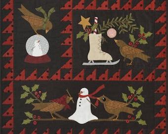 "QUILTING FUN (Pattern Set) - ""Bertie's Winter"" - ( Four Patterns) - Bonnie Sullivan (All Through The Night)"
