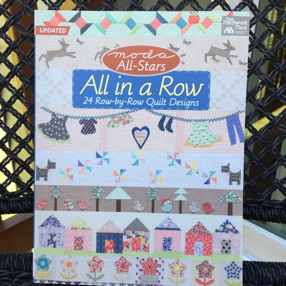Quilt Book All In A Row 24 Row By Row Quilt Etsy