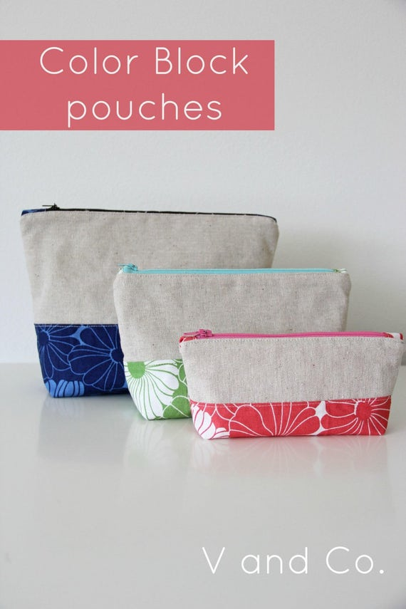 Clearance Quilting Fun Sewing Pouch Pattern Color Etsy