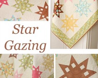 """THE PATTERN BASKET (Quilt Pattern): """"Star Gazing"""" - Design by Margot Languedoc"""