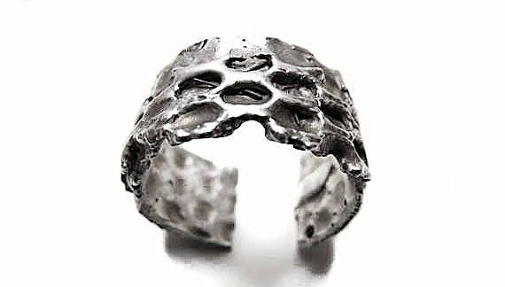 Uni-sex Maximus Sterling Silver .925 Ring, Men's Ring, Women's Ring, artistic industrial  brutalist ring, made in Brooklyn,  game of thrones