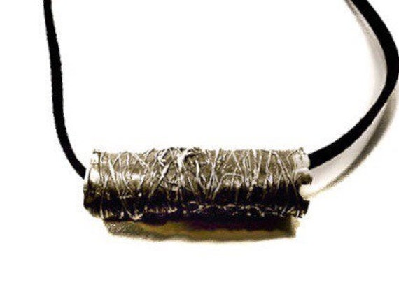 New Item - Unisex Handformed Threaded Pendant, Sterling Silver .925, one-of-a-kind, limited edition, made in Williamsburg, Brooklyn artistic