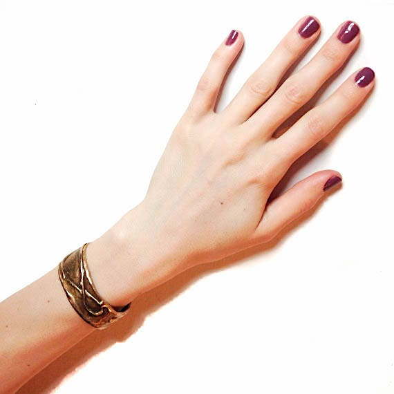 Small Byzantine Cuff, Brass Handmade, limited edition luxury bracelet, ON SALE
