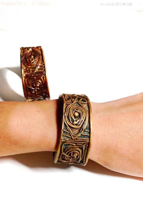 "ON SALE, Oxidized Brass ""A Midsummer Night's Dream""  Bracelet, Shakespearean Unisex Cuff, made in NY, Brooklyn design, brass cuff"