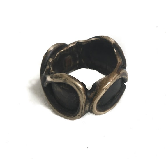 New Item, New Collection, Large Royale Infinity Ring, handmade in Brass, designed for a daring soul, brutalist, Game of Thrones, men's ring