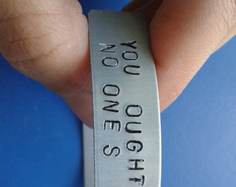 Vampire Weekend - Ezra Koenig - Handstamped Bracelet - You oughta spare your face the razor because no one's gonna spare their time for you