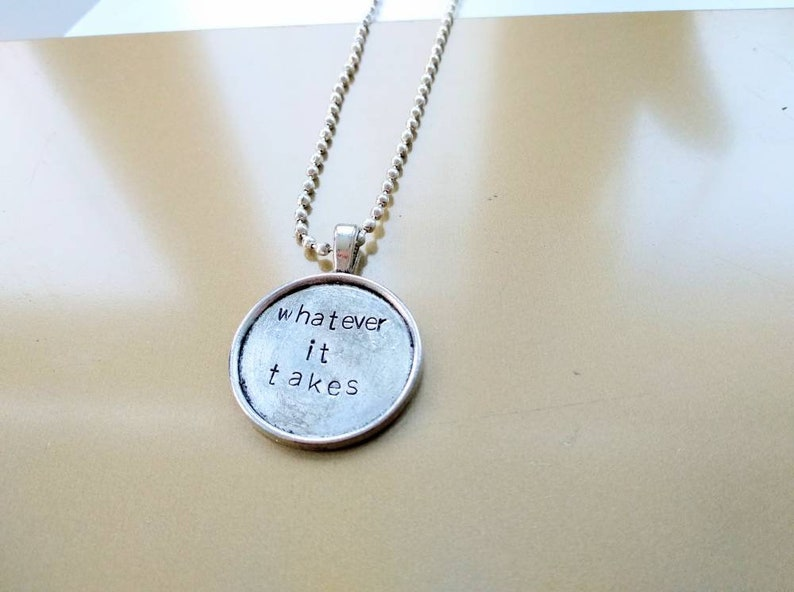 Whatever it takes Imagine Dragons handstamped necklace image 0