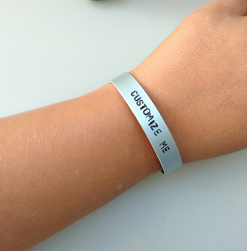 Your Own Text Customized Cuff Custom Bracelet Inspirational image 0