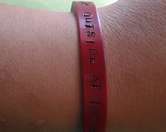 Vampire Weekend Bracelet A-Punk Quote - look outside at raincoats coming...