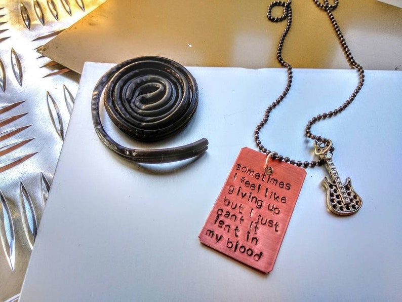 Shawn Mendes Shawn Mendes Handstamped necklace In My Blood image 0
