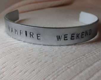 Vampire Weekend -  Ezra Koenig - Vampire Weekend Handstamped Bracalet