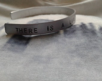 There's a lifetime righ in front of you - Don't Lie - Modern Vampires of The City - Vampire Weekend - Ezra Koenig - Handstamped Bracelet