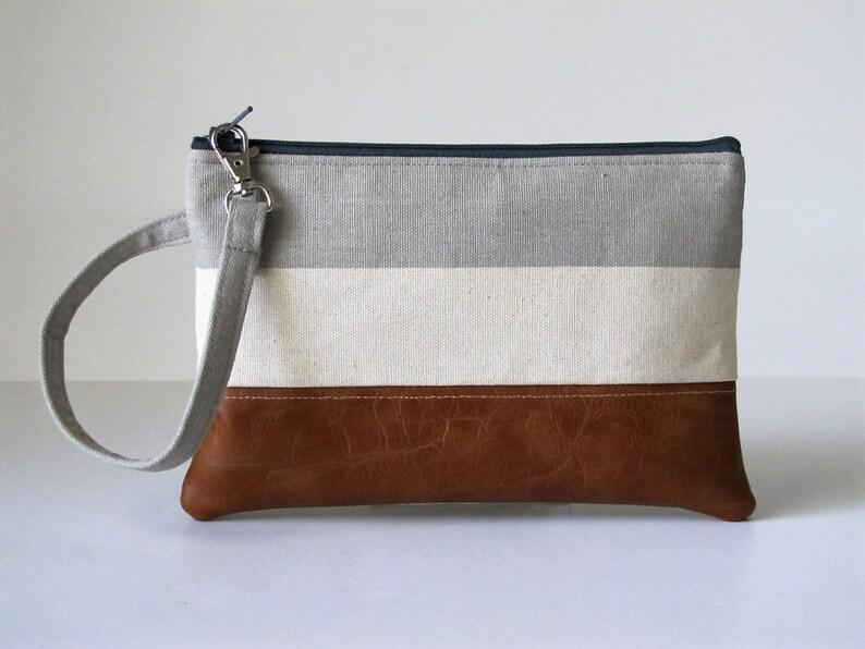 innovative design ada1a 8f651 Grey Wristlet Wallet, iPhone wallet, Vegan Leather Clutch Purse, Cellphone  Wristlet, Boho Zipper Pouch, Boho Clutch,Gift For Her