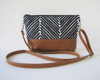 Large Crossbody Purse Navy,Navy Shoulder Bag, Vegan Cross body Purse, Gift for wife, gift for friend, Gift for her