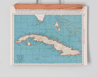 Cuba Map Etsy - Vintage map of cuba