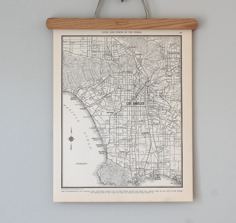 Los Angeles Map | 1930s Los Angeles California Wall Art | Antique city on tahiti map pacific, garbage island pacific, war in pacific, world war ii pacific, world map pacific, silestone pacific,