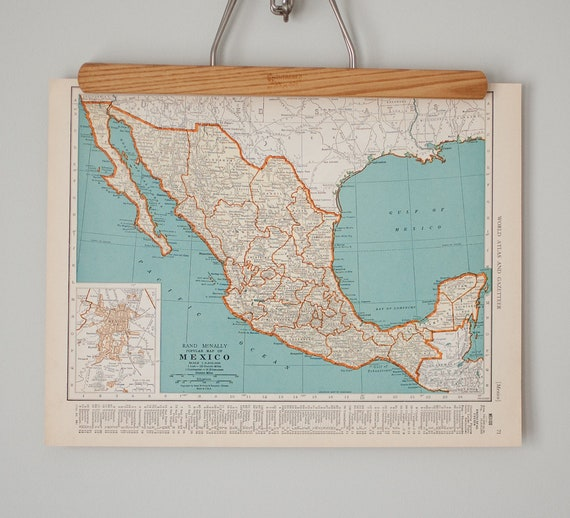 Three Vintage Maps of Mexico and Central America