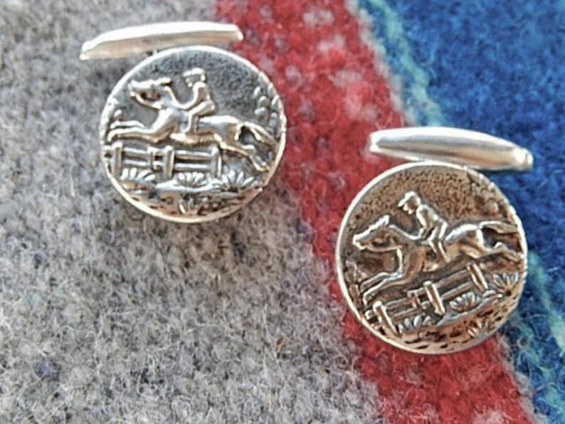 Men/'s Vintage Cufflinks Jumping Horse Cufflinks Gift for Him
