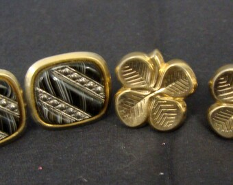 Lot Of Two Costume Vintage Cuff Links