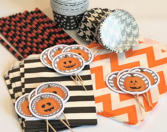 Halloween Party Pack For Cupcakes, Candy, Drinks, & Treats