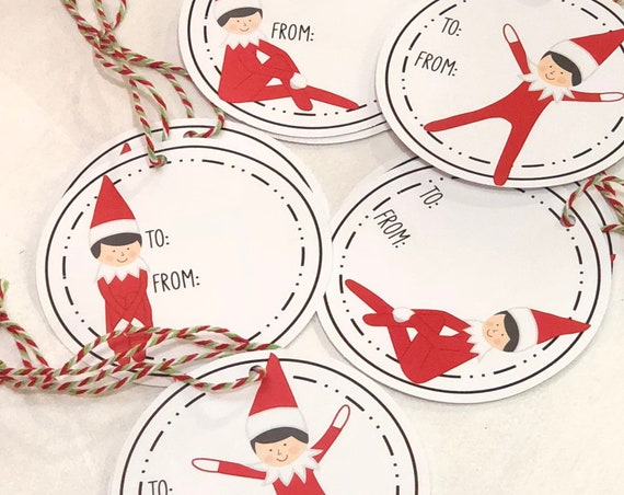 Elf On The Gift Tags - Set of 10