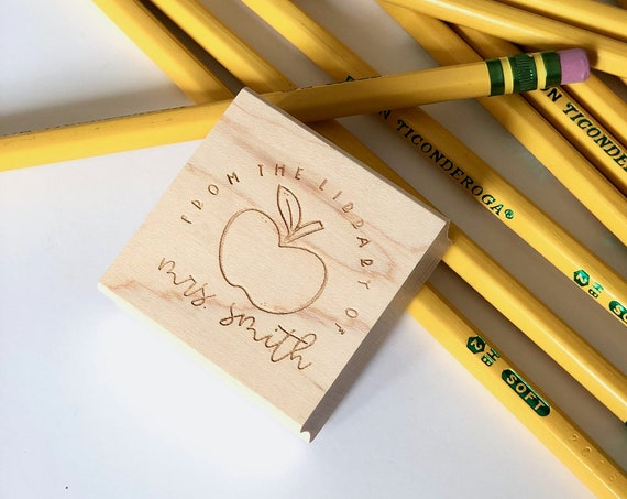 School Days Wooden Stamp