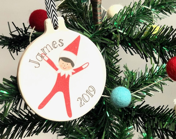 Personalized Elf On The Ornament