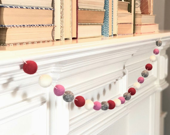 Lovely Wool Felt Ball Garland