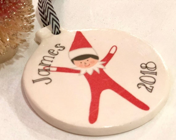 Elf On The Ornament - Personalized